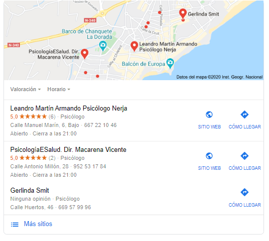 google my business sanitario • Neurita | Blog de Psicología